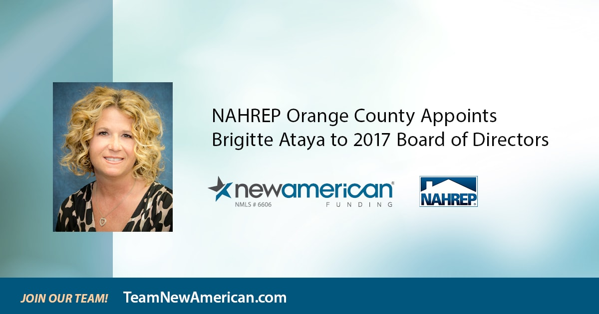 NAHREP Orange County Appoints Brigitte Ataya to 2017 Board of Directors