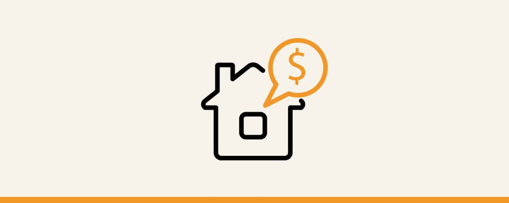 house with dollar sign illustration