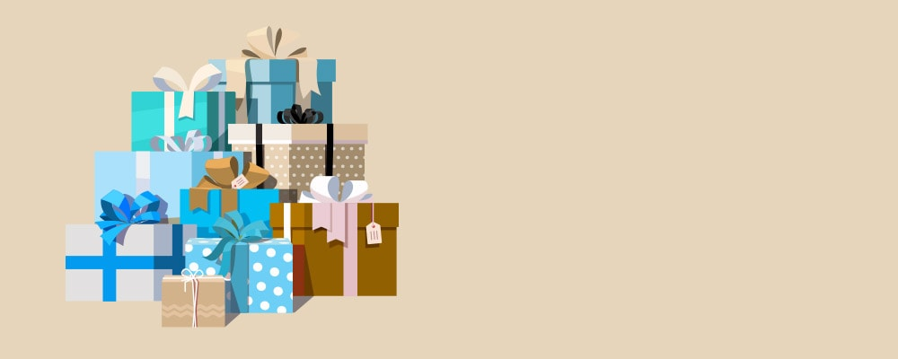 stack of presents illustration