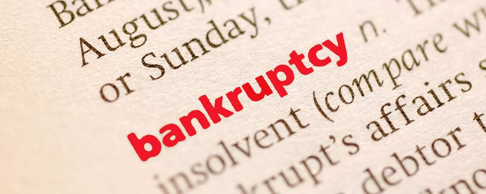 bankruptcy term in the dictionary