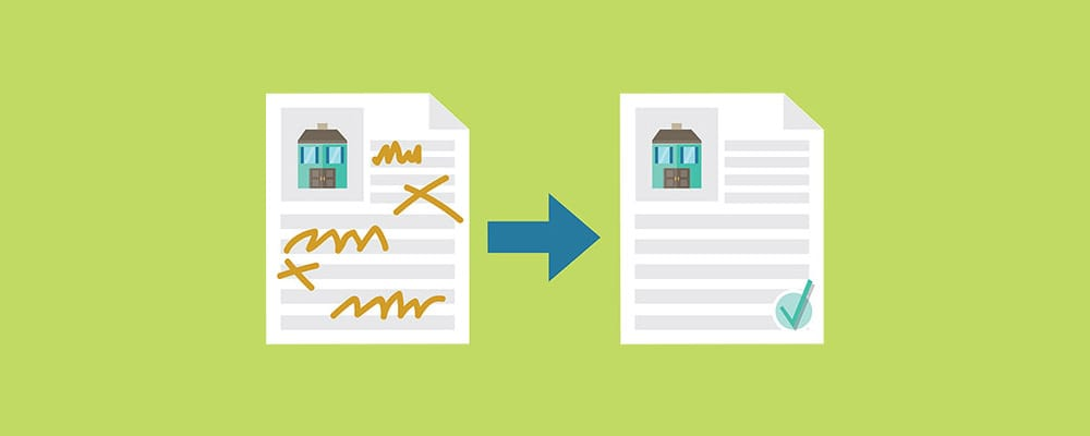 bad paperwork vs. good paperwork illustration