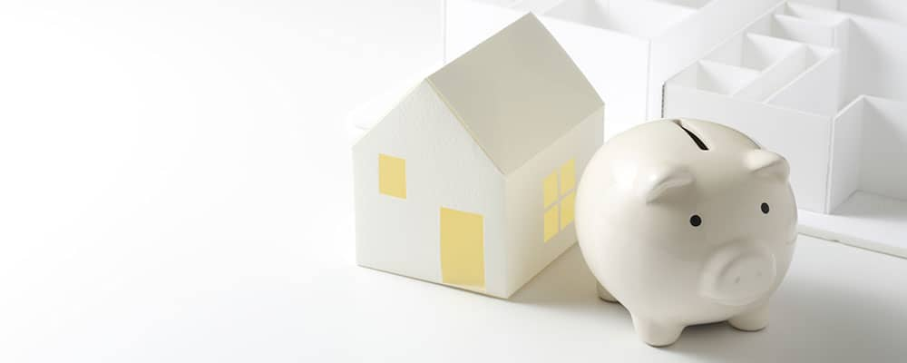 house model and piggy bank