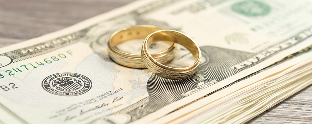 Wedding Rings and cash