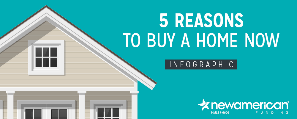 5 Reasons to Buy a Home Now - Infographic