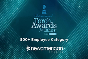 BBB Honors New American Funding with International Torch Award for Ethics Image