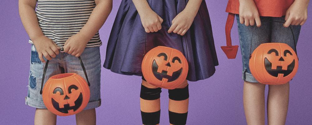 Kids in Costume with Pumpkins |DIY Halloween Costume Ideas