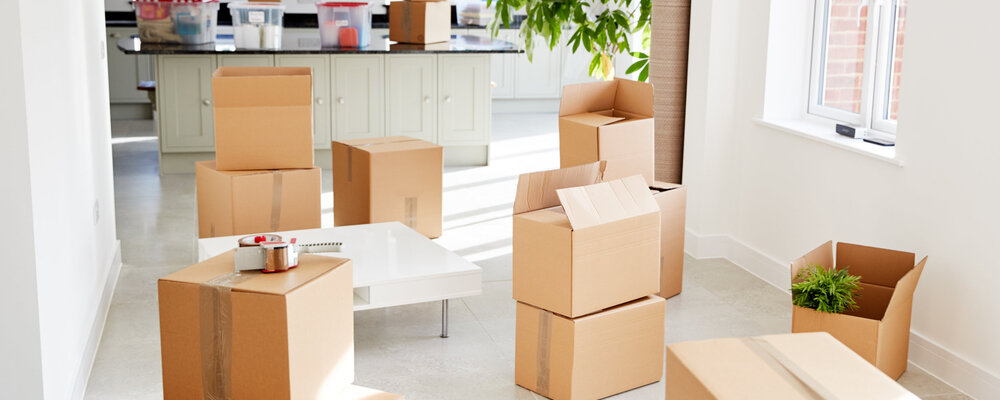 Moving boxes | Here's Where Everybody Moved to (and Moved From) in 2020