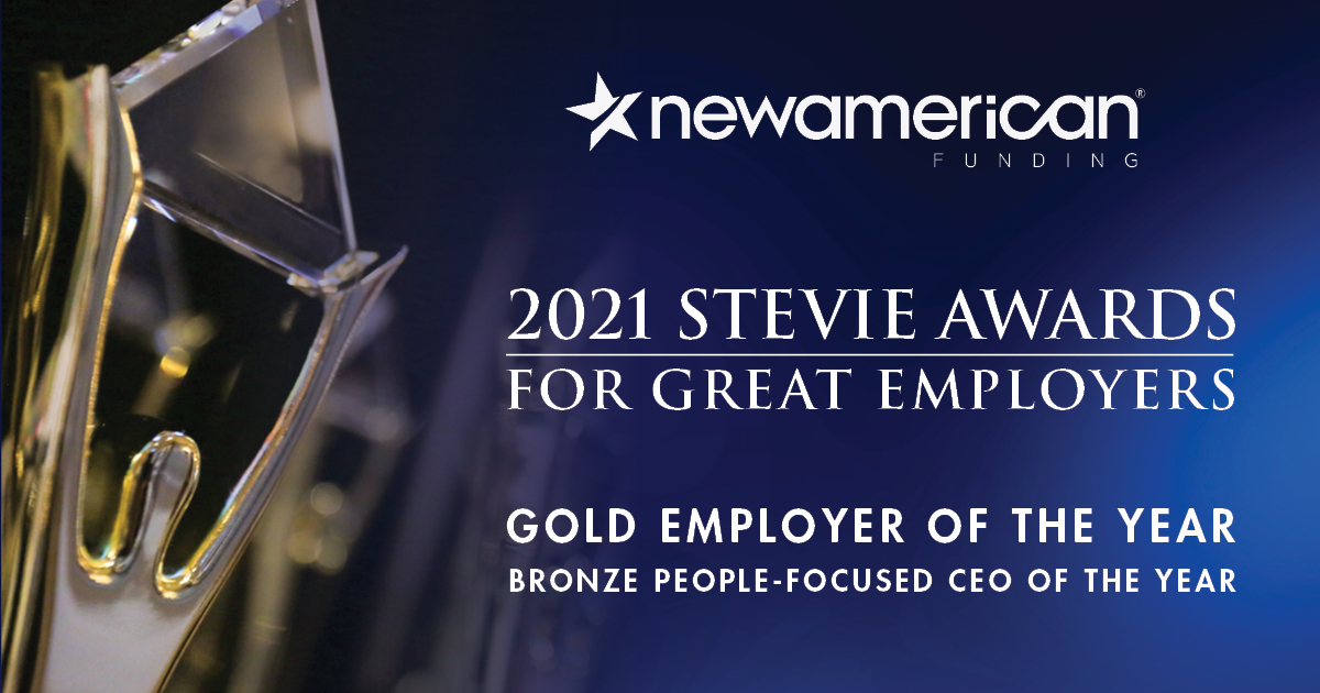 New American Funding Wins Two 2021 Stevie Awards for Great Employers