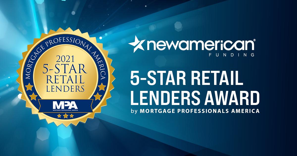 New American Fudning Receives 5-Star Retail Lenders Award