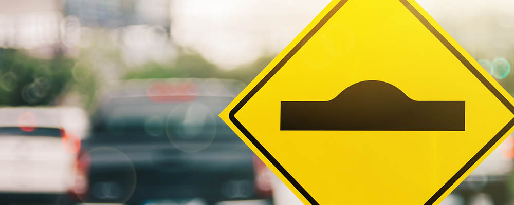 Speed bump sign | Home Sales Speed Bump Lack of Inventory