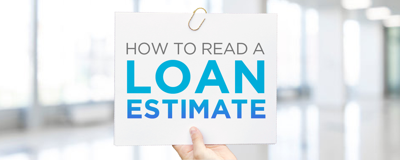 Hand Holding Sign   Loan Estimate