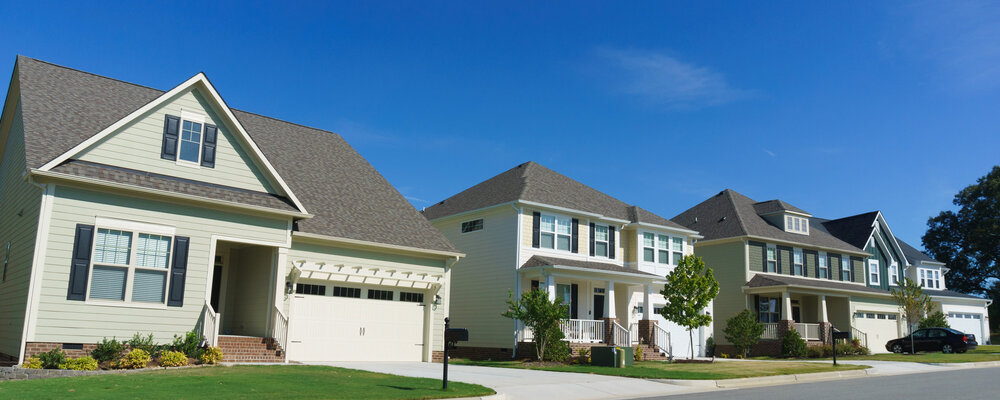 Neighborhood houses | Existing Home Sales Reverse Course, Retreat in August